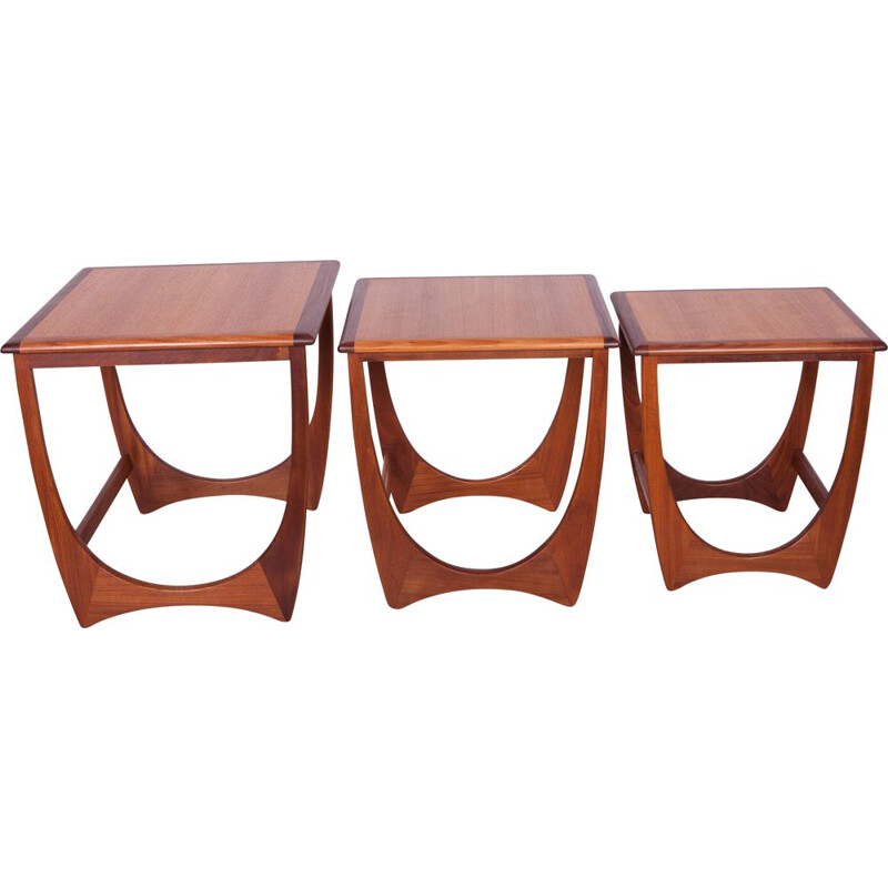 Teak nesting tables by Victor Wilkins for G-Plan, 1970