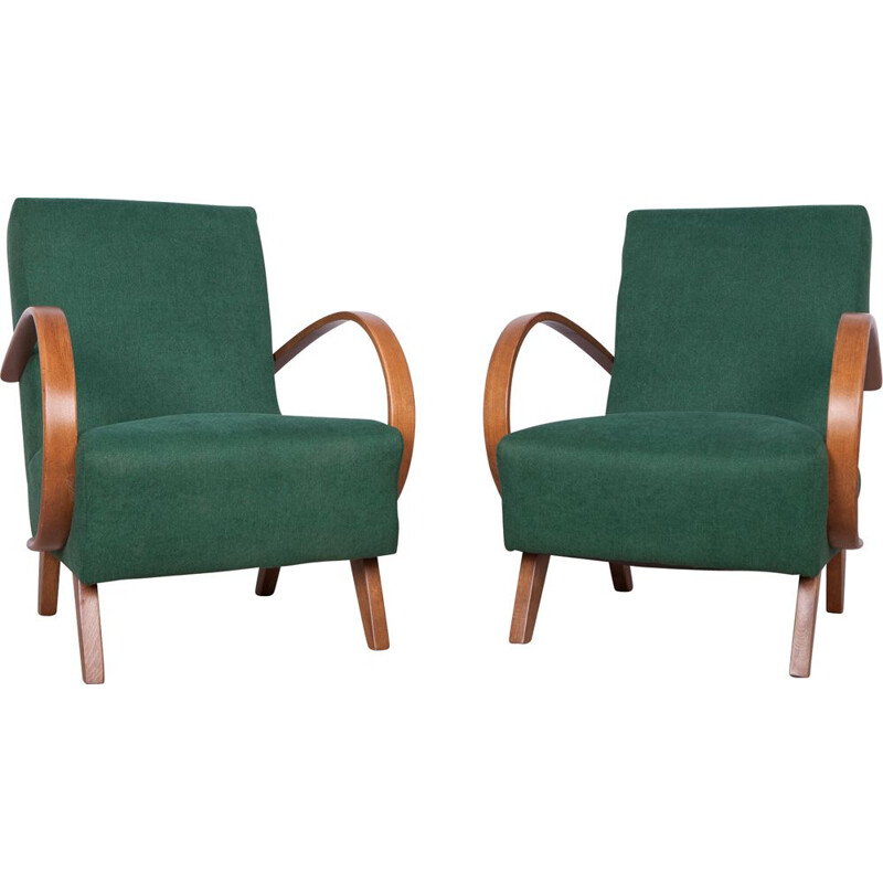 Set of 2 model 2 Armchairs by Jindřich Halabala for UP Závody, 1950s