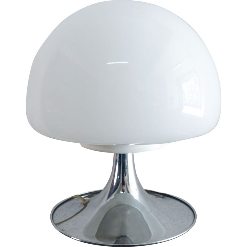 Opaline Glass Mushroom Table Lamp by Goffredo Reggiani 1960s
