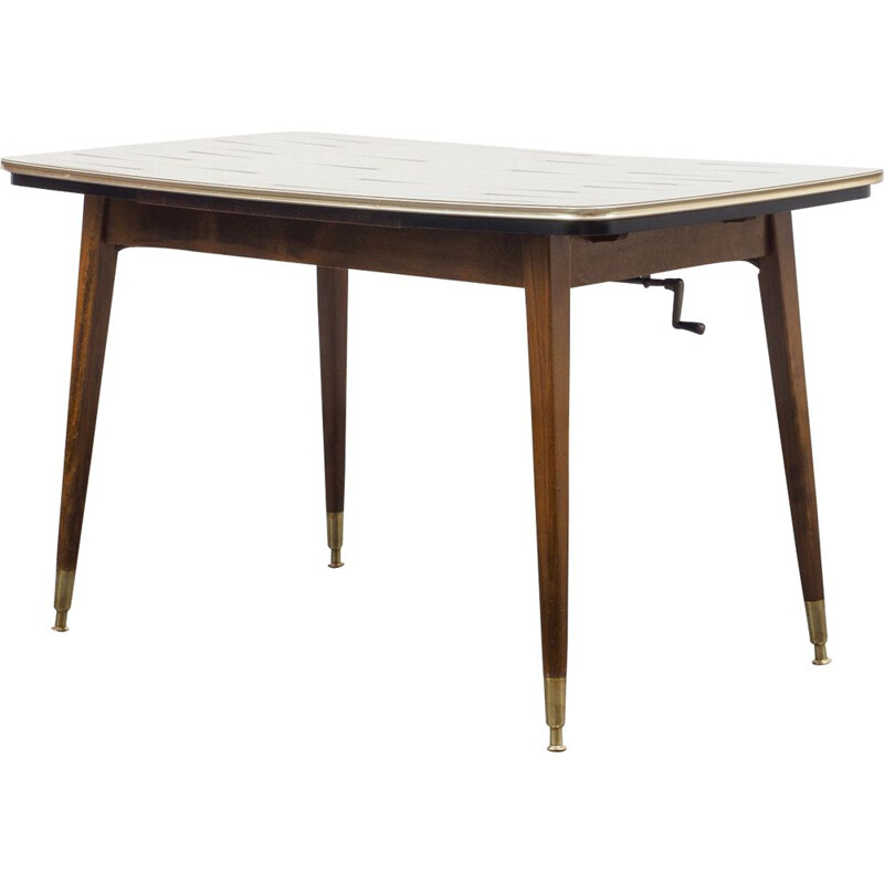 Classic table, height-adjustable and extendable 1950s