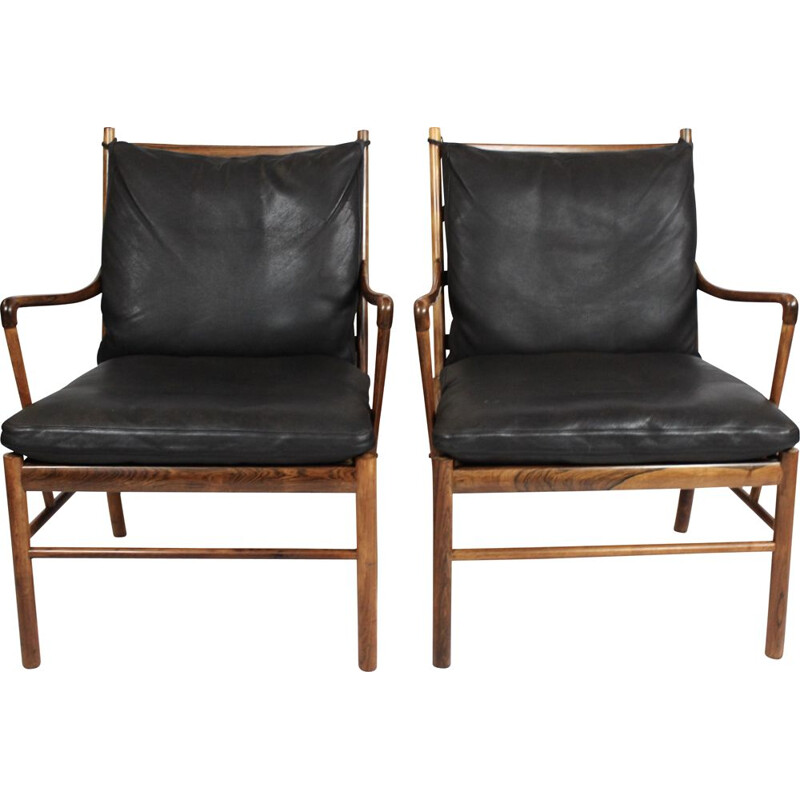 A pair of Colonial easy chairs, model PJ149, designed by Ole Wanscher in 1949