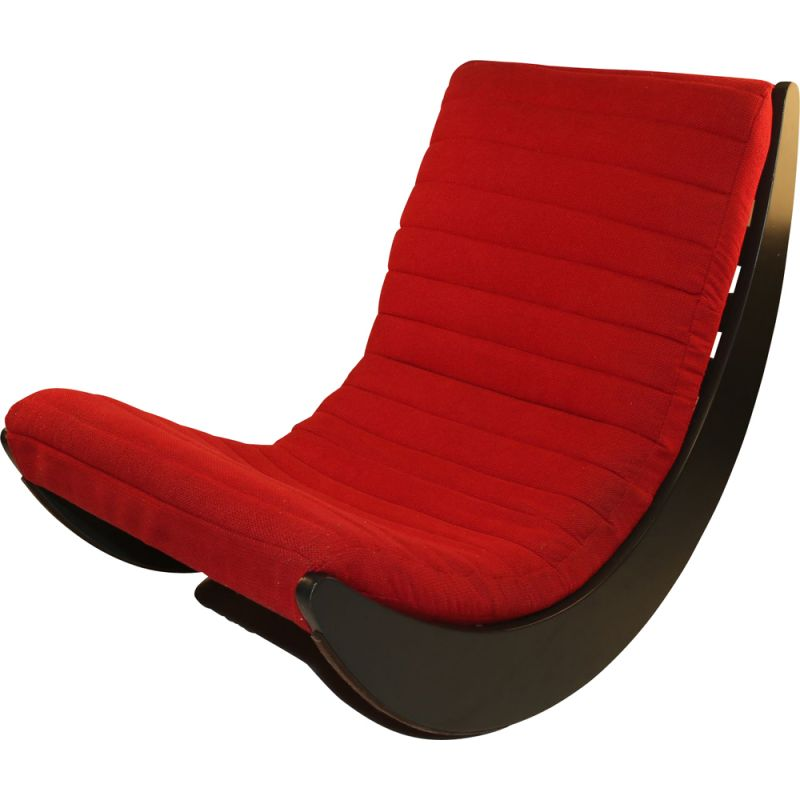 Red vintage Rocking chair by Verner Panton for Rosenthal, 1970s
