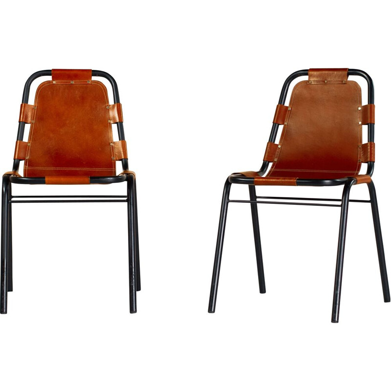 Pair of Les Arcs vintage chairs by Charlotte Perriand