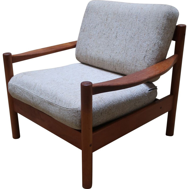 Vintage teak armchair from the 60's