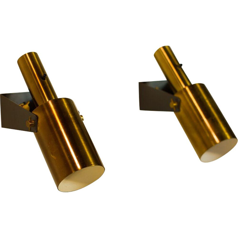 Pair of vintage SONET sconces by Hans Per Jeppesen for Fog and Morup, Denmark, 1960