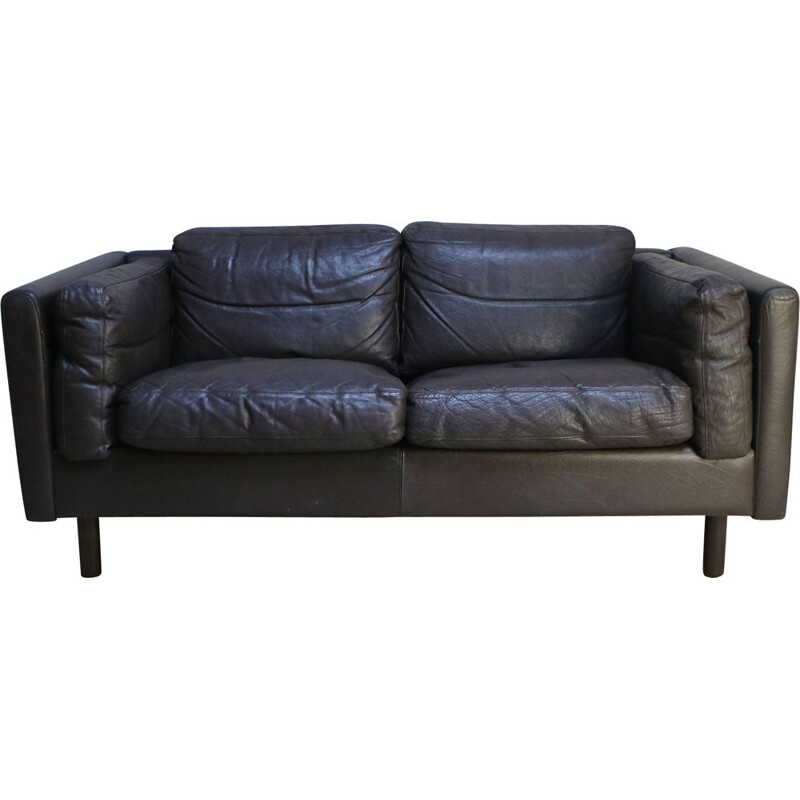 Stouby style Danish mid century vintage two seat sofa 1970
