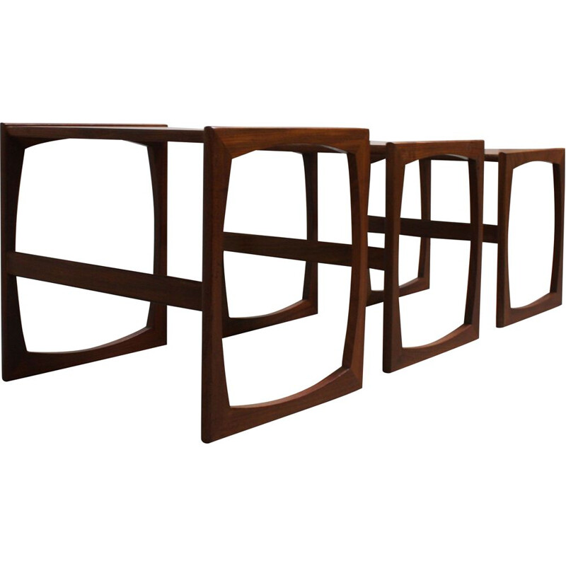 Set of 3 Teak vintage Nesting Tables from G-Plan, 1960s