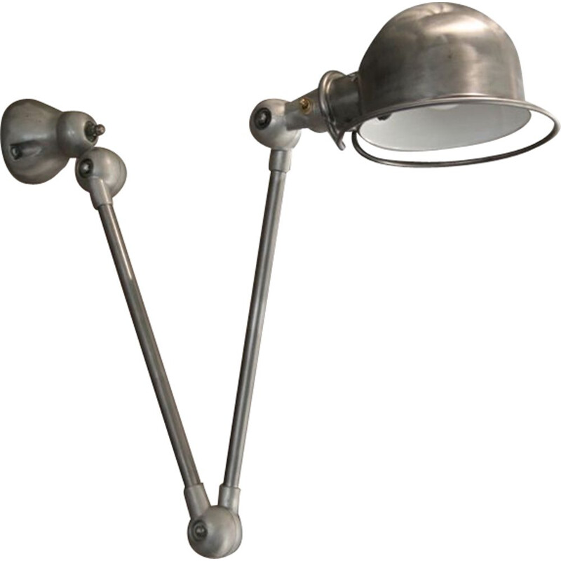 Jean Louis Domecq industrial Jieldé vintage wall lamp 2 arms