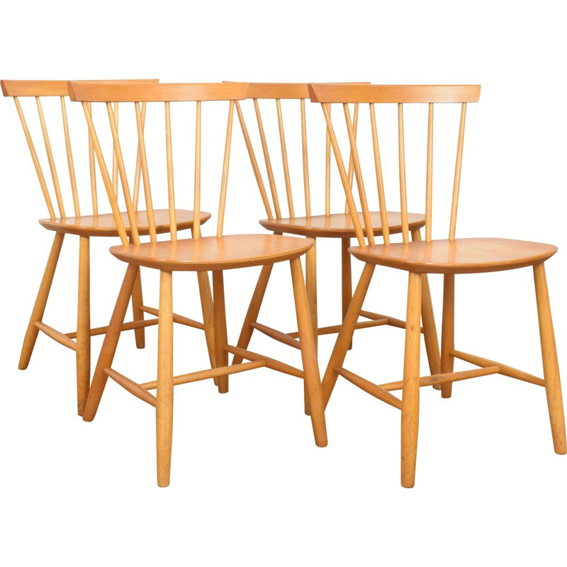 Set of 4 Danish Dining Chairs Mid-Century from Farstrup, 1960s
