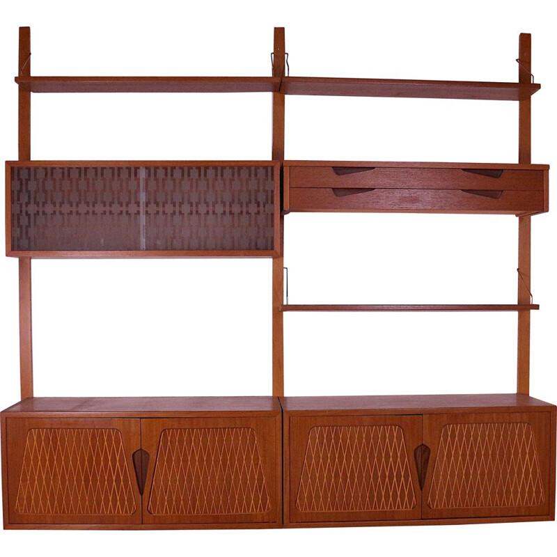 Vintage wall unit from rival company Jatog Mobelfabrik, 1960