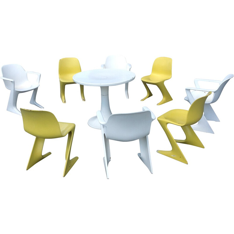 Set of Horn outdoor armchairs and table, Ernst MOECKL - 1960s