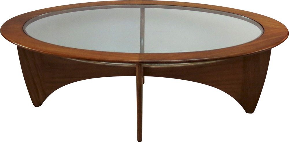 """G-Plan """"Astro"""" oval coffee table in teak and glass, Victor ..."""