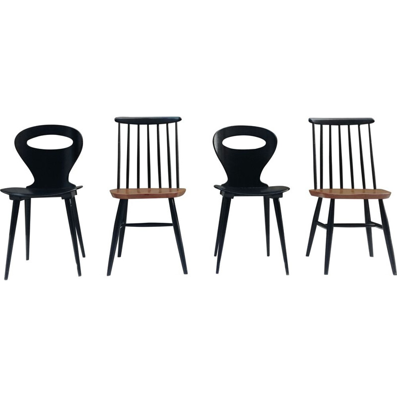 2 pairs of Vintage Chairs - Bistro and Scandinavian