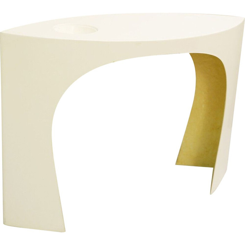 Vintage French console Les Arcs 1600 By Charlotte Perriand in White Resin, 1969
