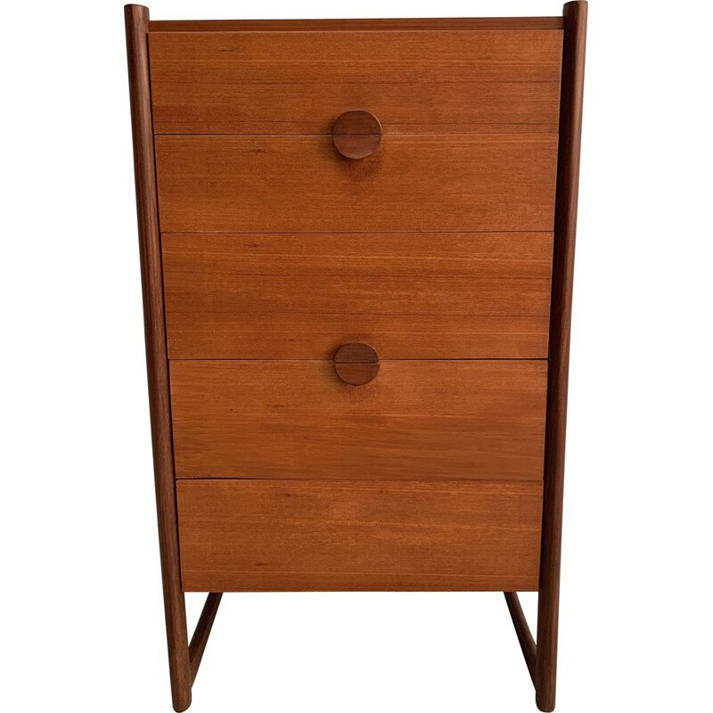 Vintage teak chest of drawers in England 1960