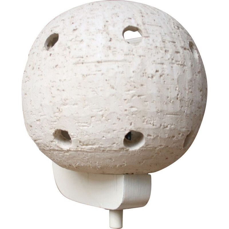 White ceramic round ball wall lamp