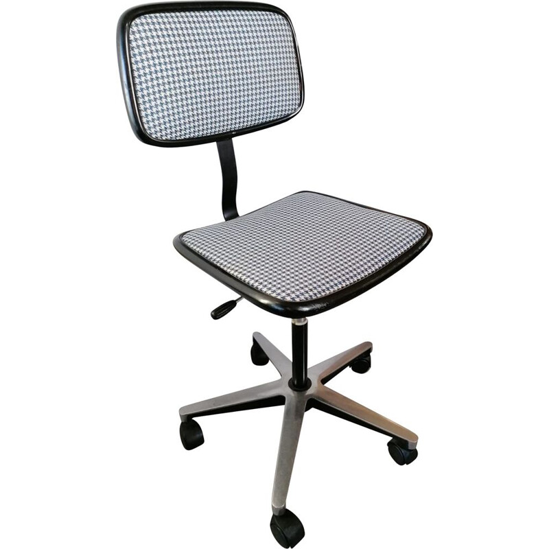 Vintage houndstooth office chair