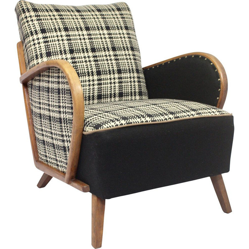 Fully restored 1930's art deco armchair