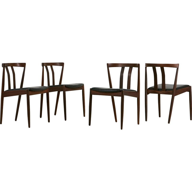 Suite of 4 Vintage Scandinavian Chairs, Denmark 60s