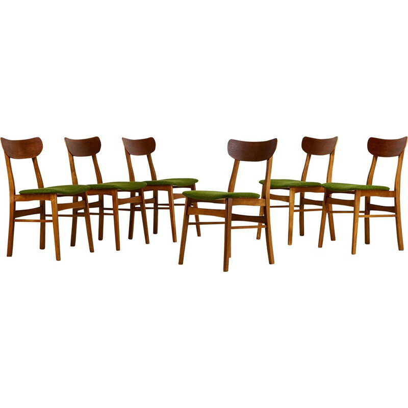 Suite Of 6 Vintage Danish Chairs, Farstrup Mobelfabrik C 1960