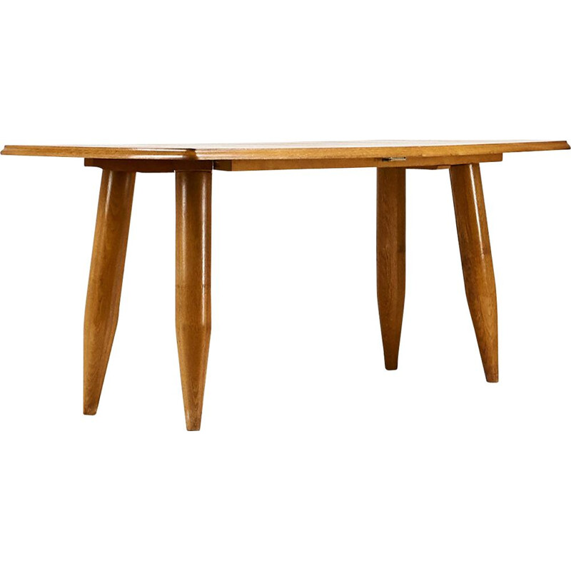 Vintage dining table Guillerme and Chambron, C 1960