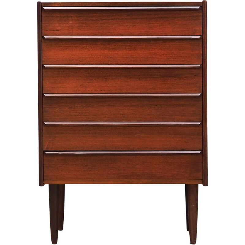 Vintage teak chest of drawers 1960