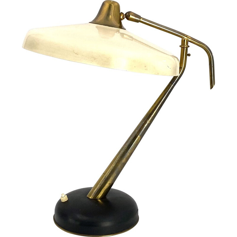Mod. 331 Brass Executive Desk Lamp, Prod. Lumi, Oscar Torlasco 1950