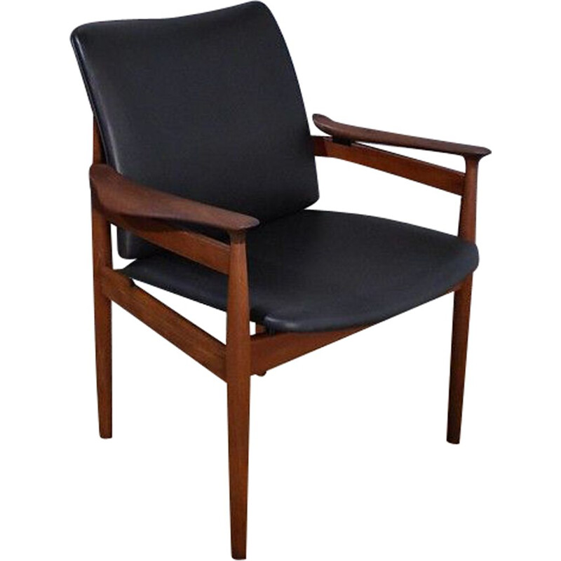 Finn Juhl Model 192 Teak Chair For France and Son, Denmark