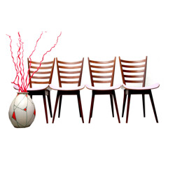 Pastoe set of 4 dining chairs, Cees BRAAKMAN - 1950s