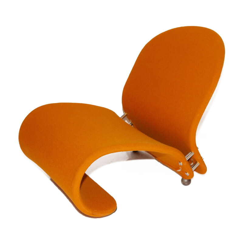 Orange G Lounge Chair by Verner Panton for Fritz Hansen, 1970s