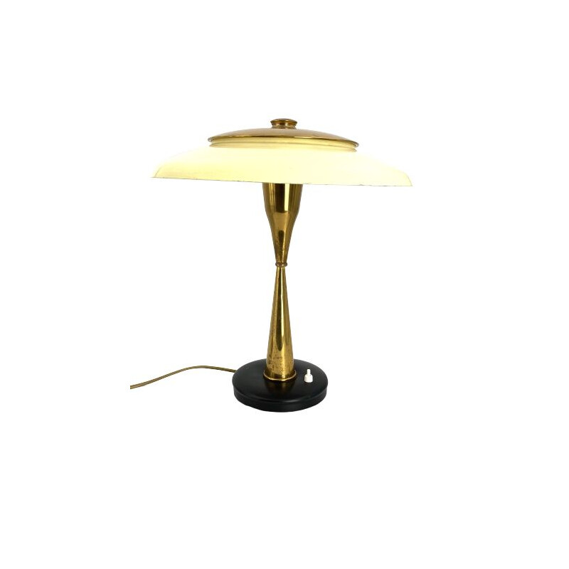 Oscar Torlasco Mid-Century Mod. 442 Brass Executive Desk Lamp, Prod. Lumi, Circa 1955