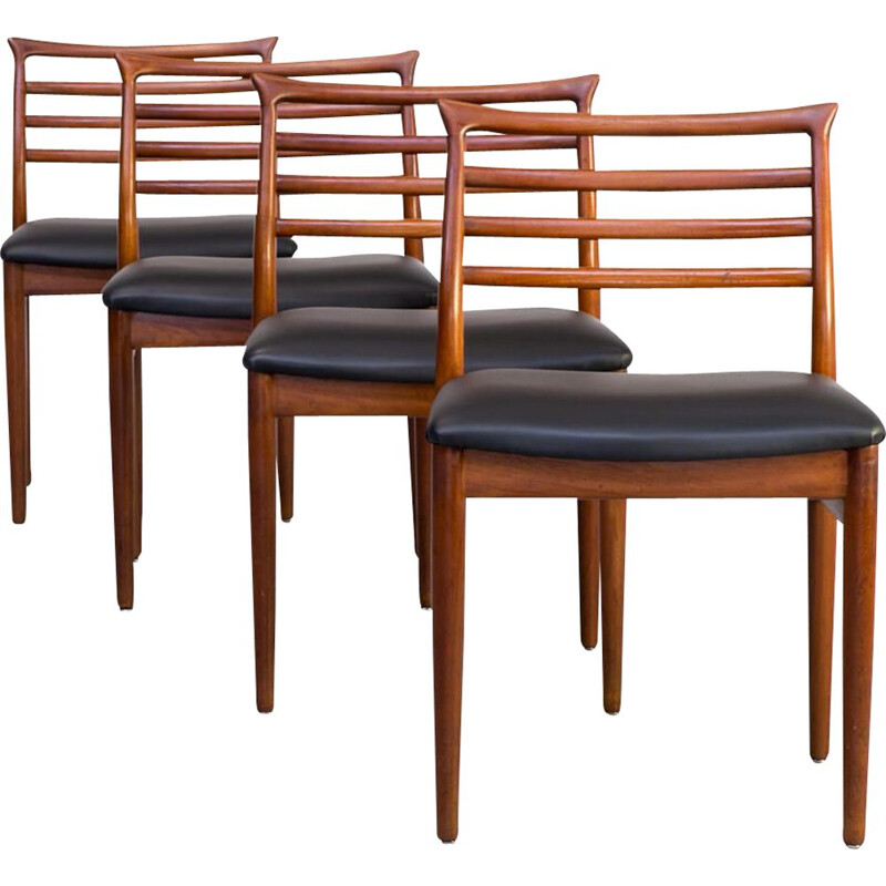 Set 4 Erling Torvits dining chair for Soro Stolefabrik 1960s