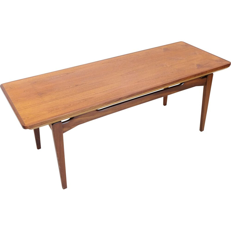 Vintage scandinavian coffee table with extensions 1960