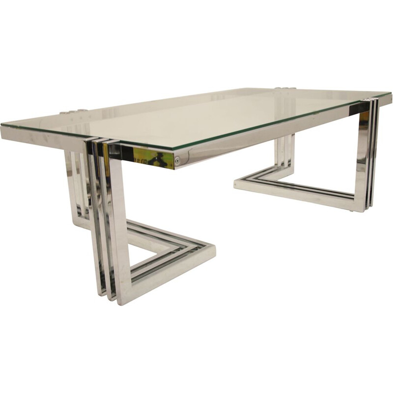 Ilse Mobell Chrome Design coffee table Space age 1960