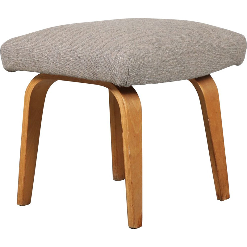 Plywood foot stool designed by Cees Braakman, manufactured by Pastoe in the Netherlands 1960s