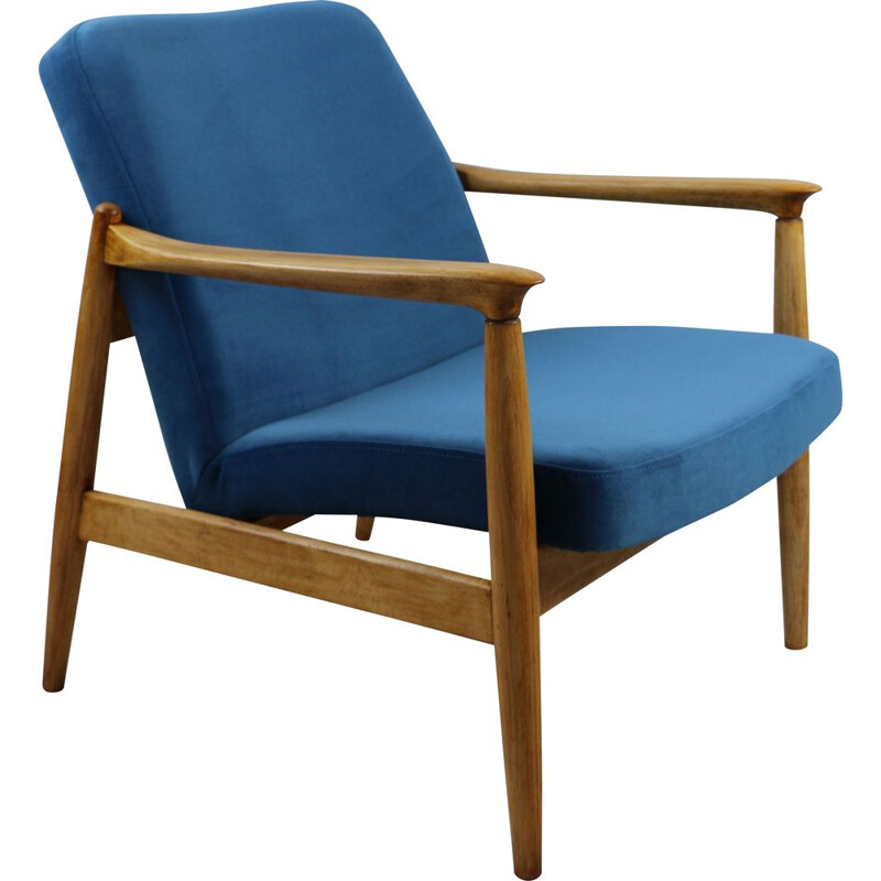 Vintage Blue Jade Easy Chair by Edmund Homa, 1970s