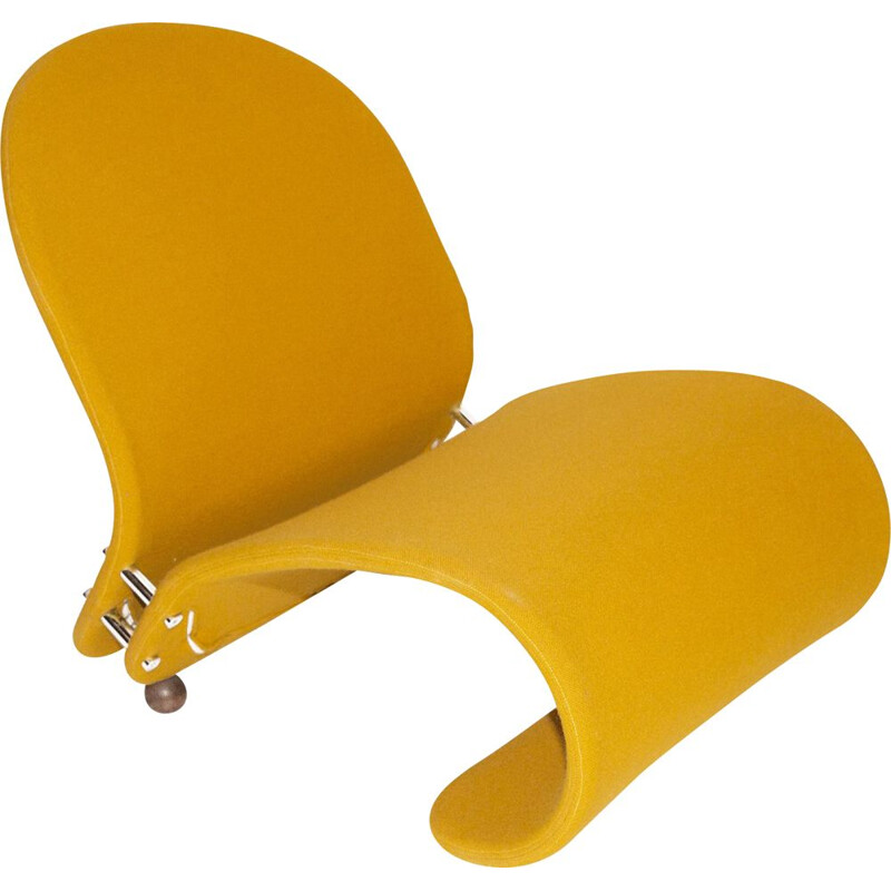Yellow G Lounge Chair by Verner Panton for Fritz Hansen, 1970s