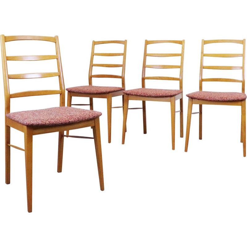 Set of 4 vintage oak table chairs, 1960