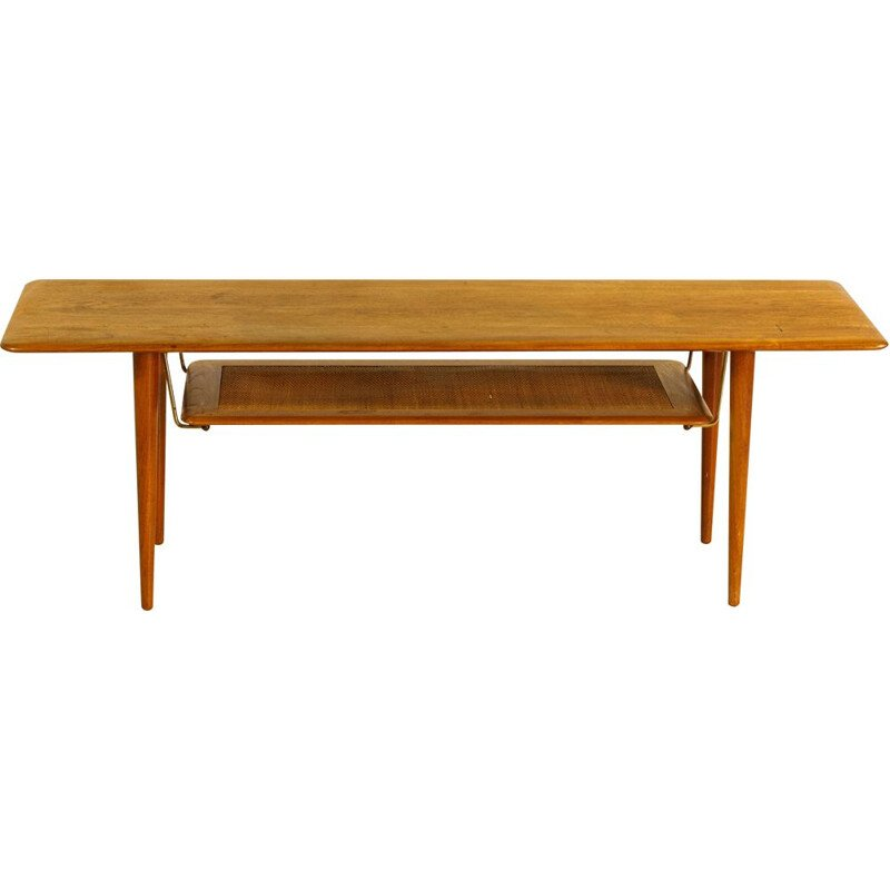 Vintage teak coffee table by Peter Hvidt and Orla Molgaard Nielsen, FD516 Denmark, 1956