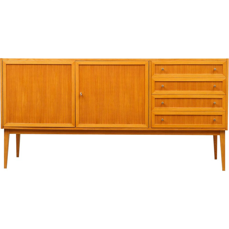 Restored sideboard in ashwood, pannelled doors 1960s