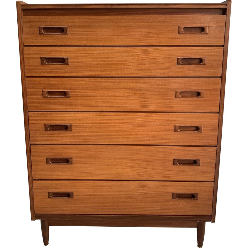 Danish Mid century teak chest of drawers 1960