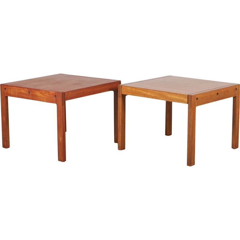 Pair of side tables by de Coene in Belgium 1960s