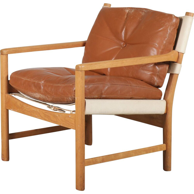 Norwegian beechwood lounge chair 1960