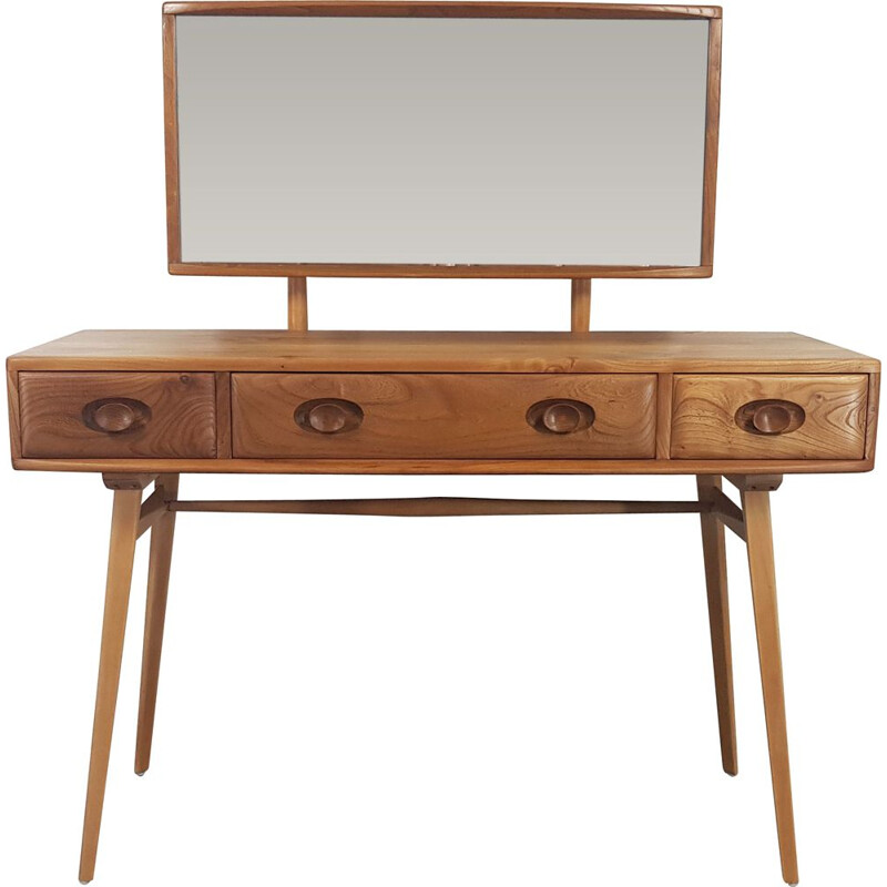 Ercol Dressing Table with Mirror, 1960s