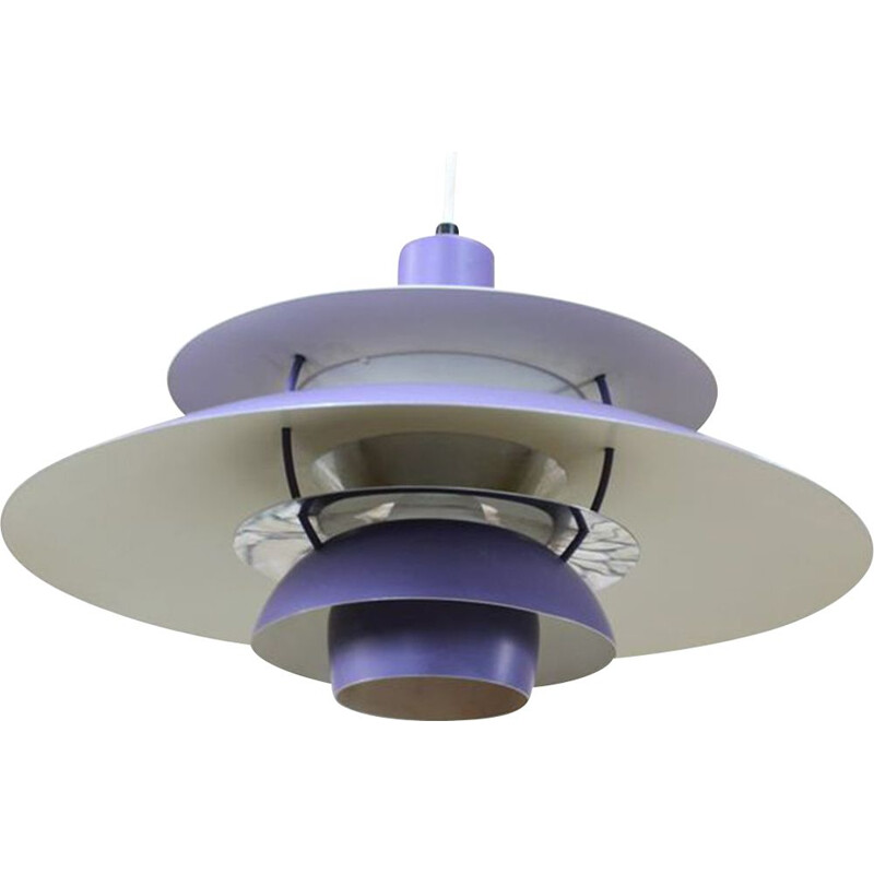 Vintage aluminium ceiling light by Louis Poul Henningsen 1965
