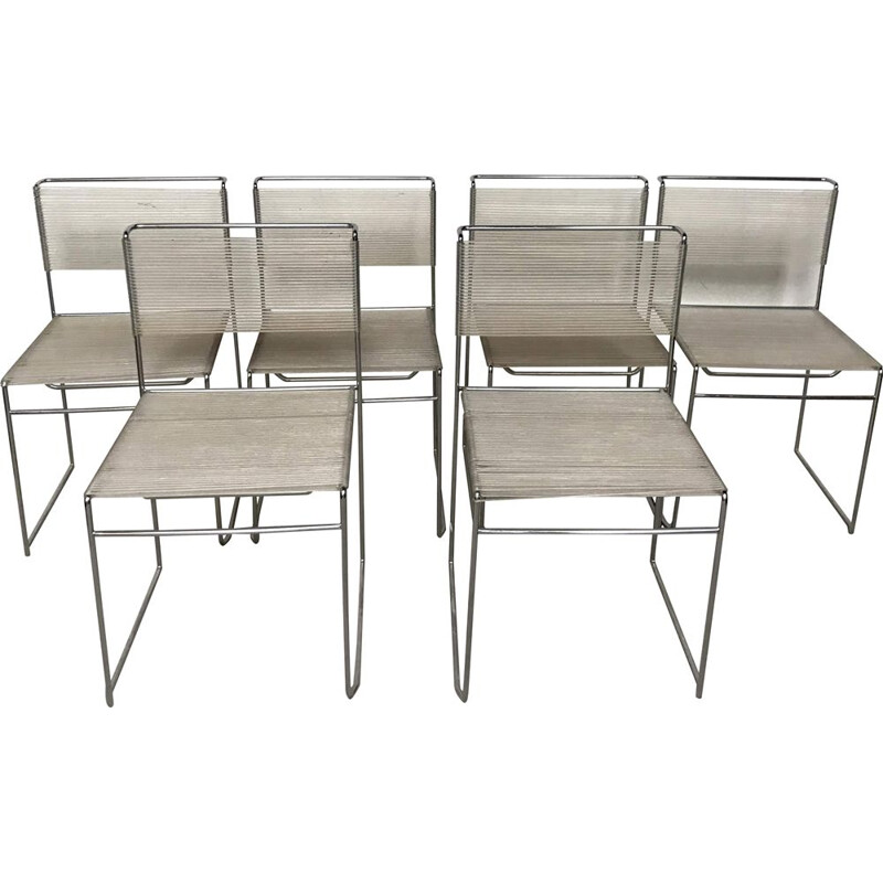 Vintage Spaghetti chairs by Giandomenico Belotti 1970