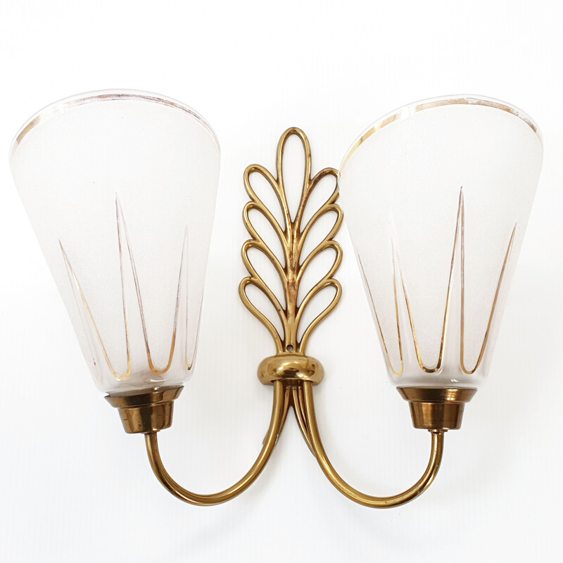Vintage double-light wall light 1950