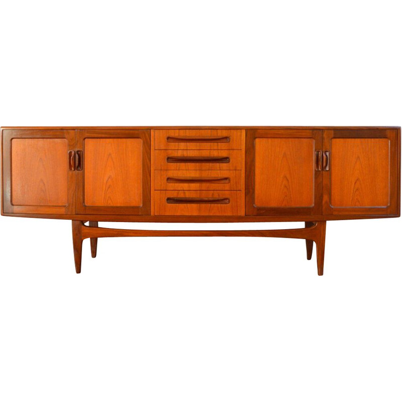 Vintage teak Ib Kofod-larsen stringcourse for G-Plan 1950s