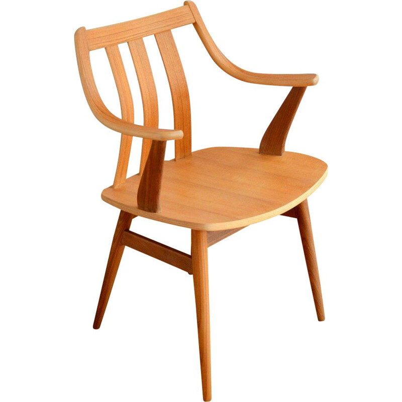 Scandinavian Wooden Armchair Chair 1960s
