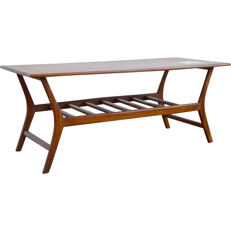 Louis Van Teeffelen vintage teak coffee table for Wébé 1960s
